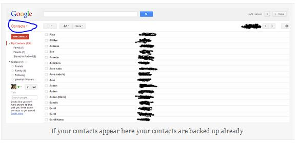 gmail contacts