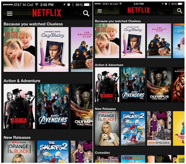 Netflix 7.0 iPhone 6 App