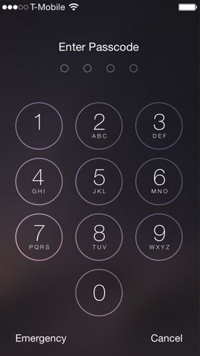 fix passcode issue on iOS 8.x