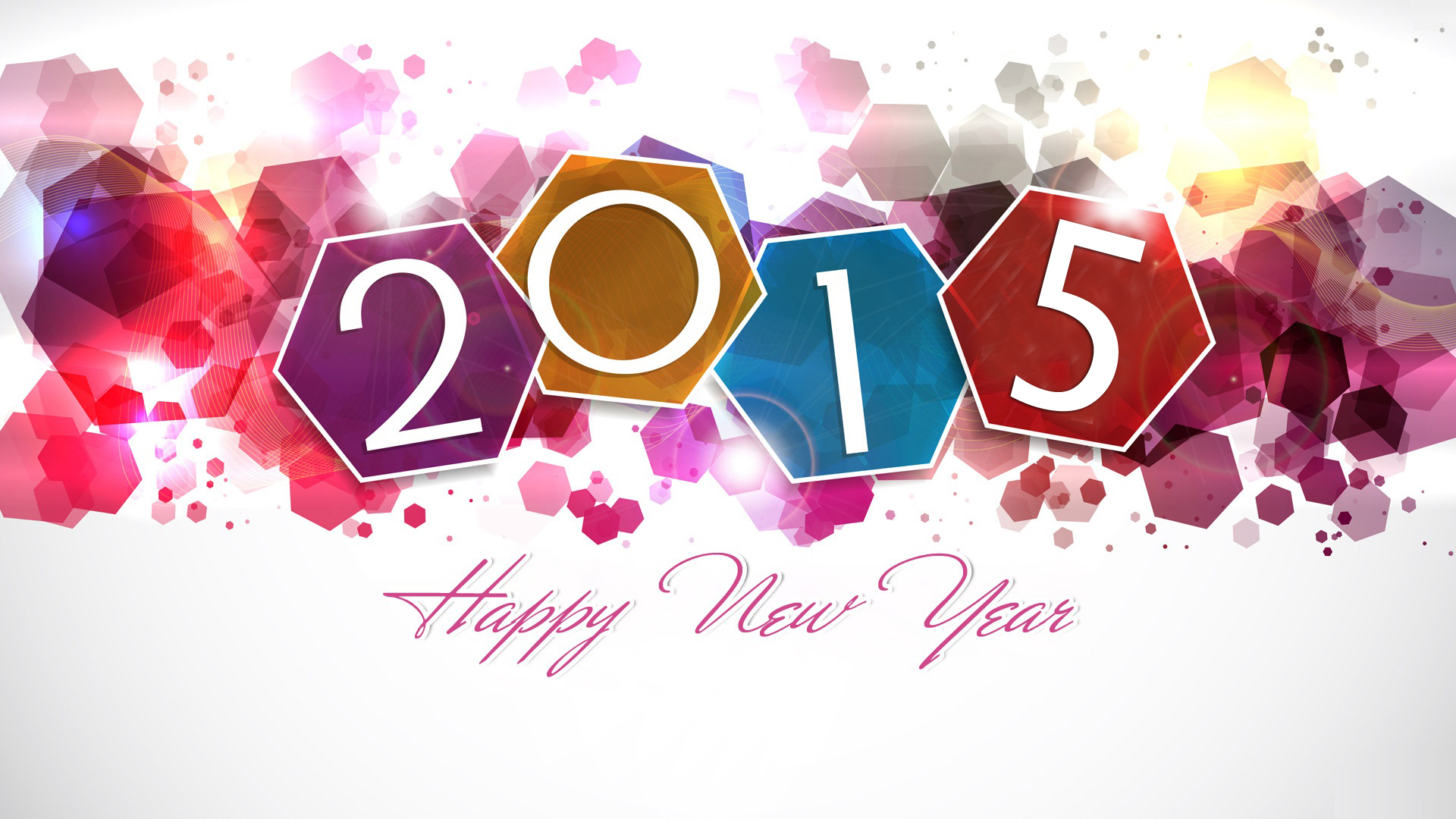 happy new year 2015 colours