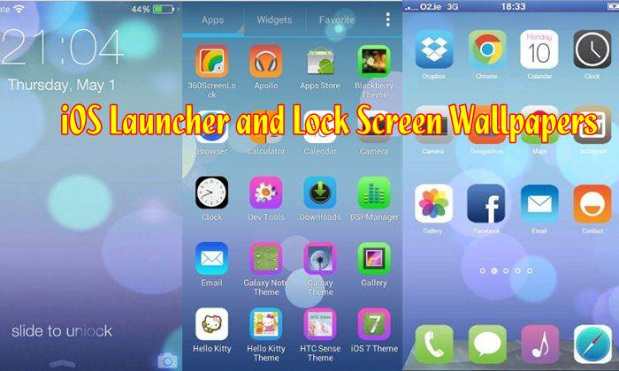 ios launcher wallpaper: Set IOS Launcher And Lock Screen Wallpapers On Android Devices