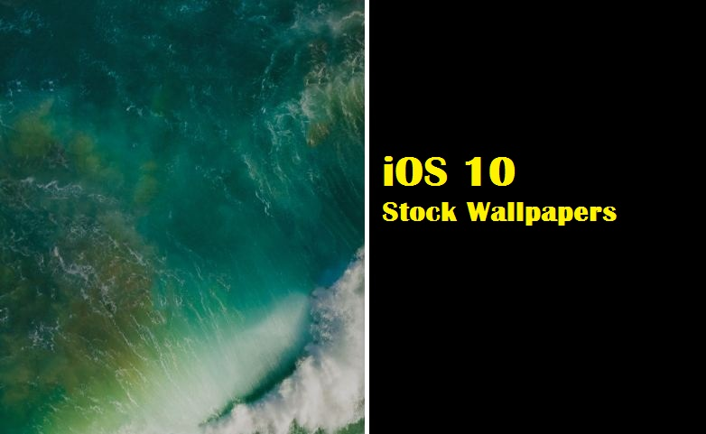 Default Stock Wallpapers iOS 10