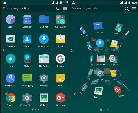 Shine Launcher the Best 3D Launcher for all Android devices