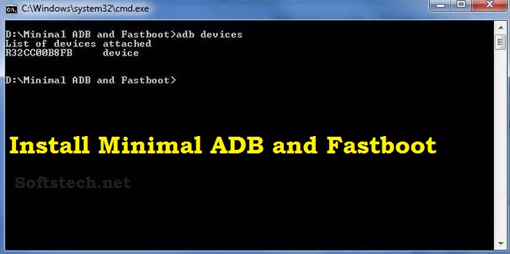 Download and Install Minimal ADB and Fastboot tool at Window PC