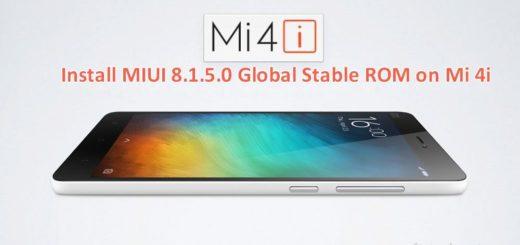 Install Mi 4i MIUI 8.1.5.0 Global Stable ROM