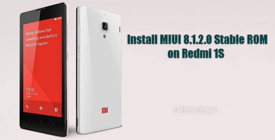 Install Redmi 1S MIUI 8.1.2.0 Global Stable ROM