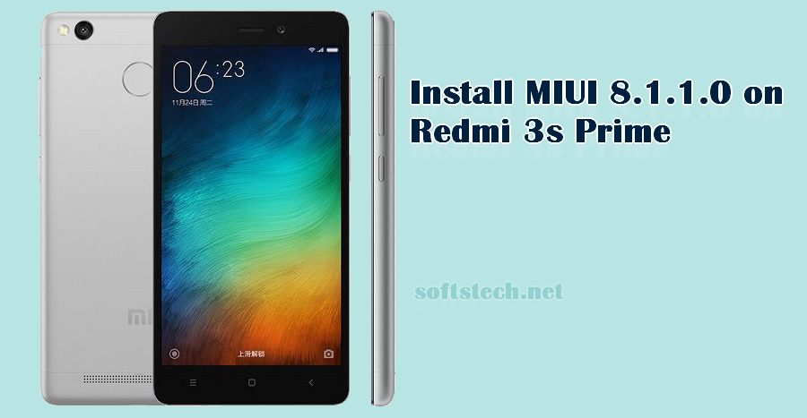 Install Redmi 3s Prime MIUI 8.1.1.0 Global Stable ROM