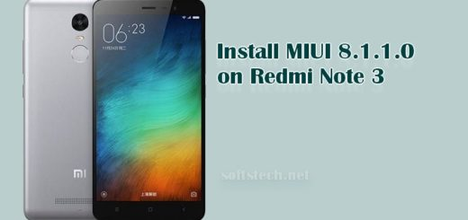 Install Redmi Note 3 MIUI 8.1.1.0 Global Stable ROM