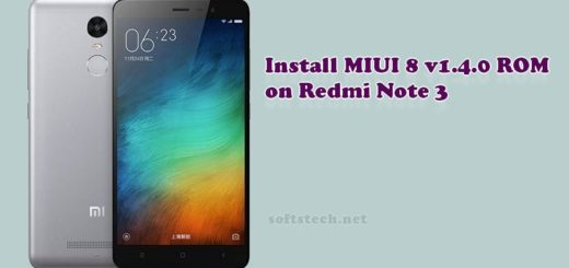Install Redmi Note 3 MIUI 8 v1.4.0 Global Stable ROM
