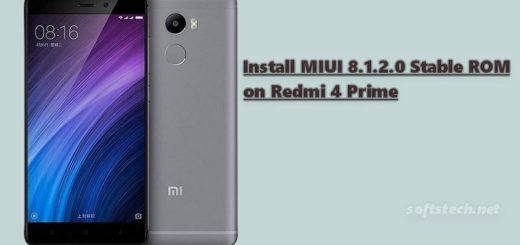 Install Redmi 4 Prime MIUI 8.1.2.0 Global Stable ROM