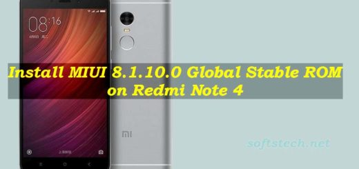 Install Redmi Note 4 MIUI 8.1.10.0 Global Stable ROM Manually