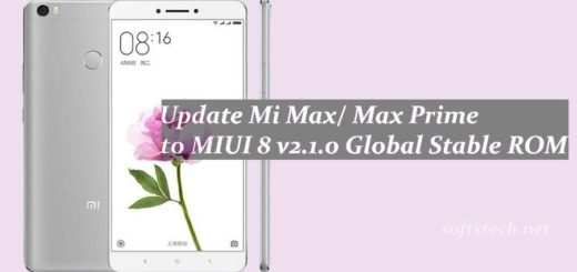 Manually Update Mi Max/ Max Prime MIUI 8 v2.1.0 Global Stable ROM