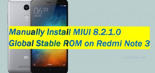 Manually Install MIUI 8.2.1.0 Global Stable ROM on Redmi Note 3