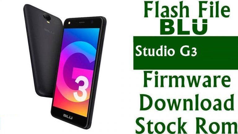 Download And Install Stock ROM On BLU Studio G
